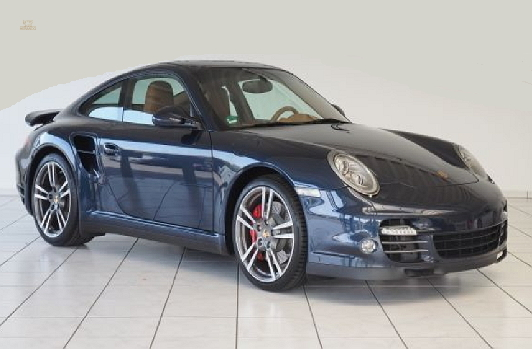 Porsche 997 911 Turbo Blau Coupé