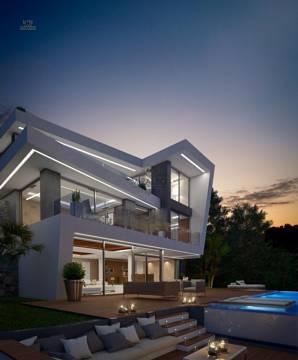 Villa abends
