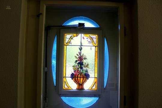 Bleiverglasung Küchenfenster
