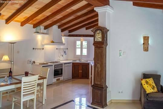 Blick in die Küche des Gästehauses