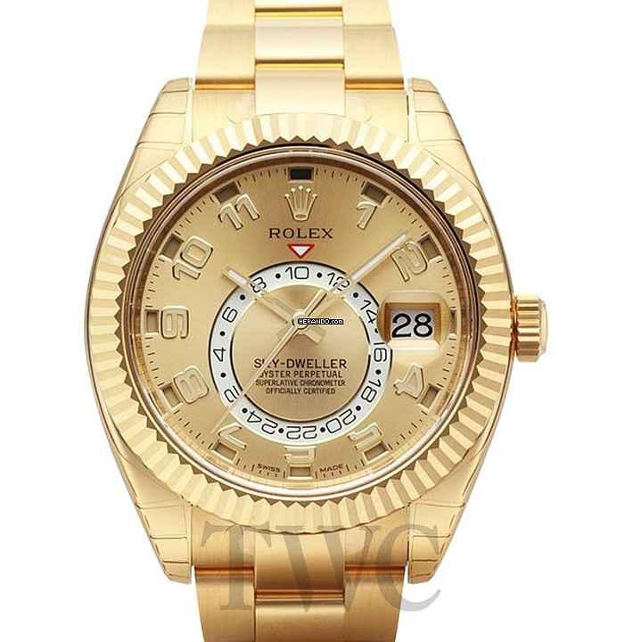 Rolex Sky-Dweller Gold colored 18k gold Ø42 mm - 326938 f0df2b322a0