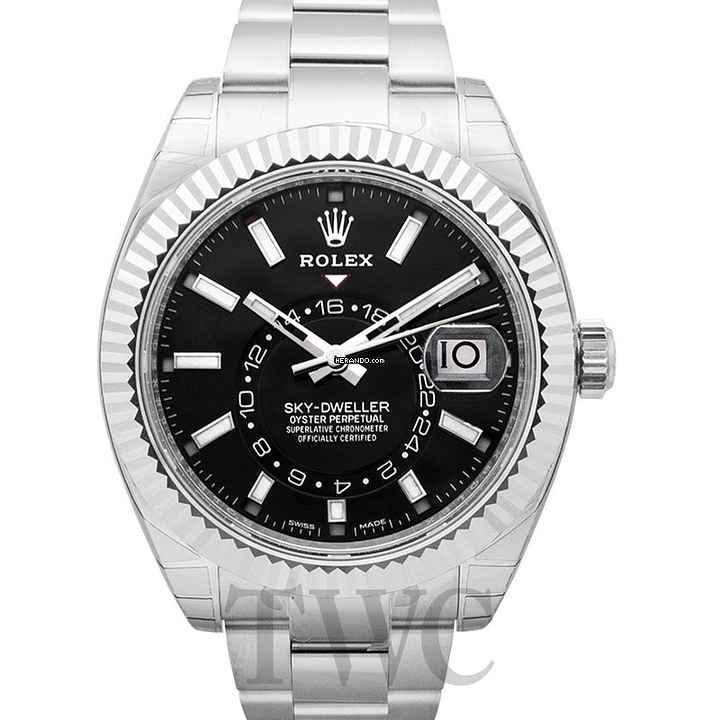 Rolex Sky-Dweller Black 18k White Gold 42mm - 326939 f8a39430346