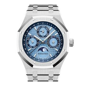 Audemars Piguet Royal Oak Perpetual Calendar Platinum Ice Blue Dial Ltd Ed 50 Pc