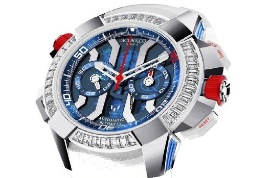 Jacob & Co. Epic X Chrono Messi White Gold, Titanium And Baguette