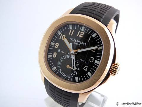 Patek Philippe Aquanaut Jumbo Travel Time Rosegold -Mint -