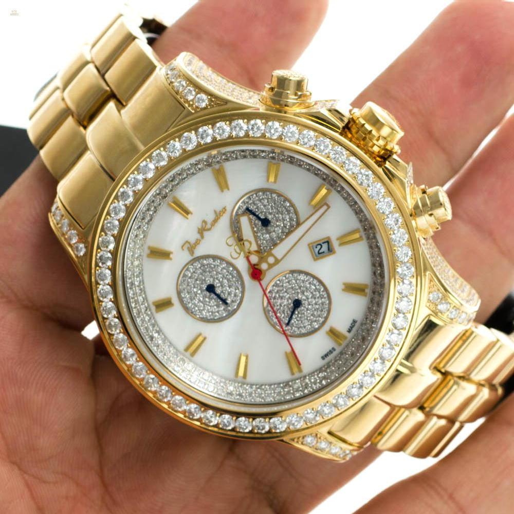 Herando Joe Rodeo Diamant Master Pilot Gold Herren Uhr Jmp20