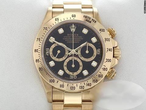 Rolex Daytona 16528 Gelbgold 750 Diamanten Zenith Chronograph Automatik 18kt Yellow Gold Oyster-band Chronometer Black Dial