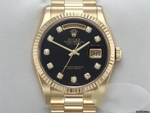 Rolex Day Date 36mm 118238 2002 Lc100 Gelbgold 750 Diamanten Automatik Gold