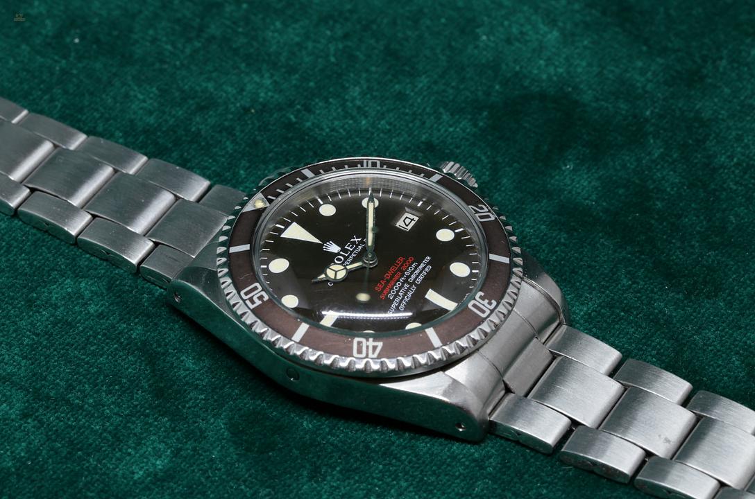 ROLEX SEA-DWELLER DOUBLE RED 1665 MK2 TROPICAL DIAL e480e37ab3f