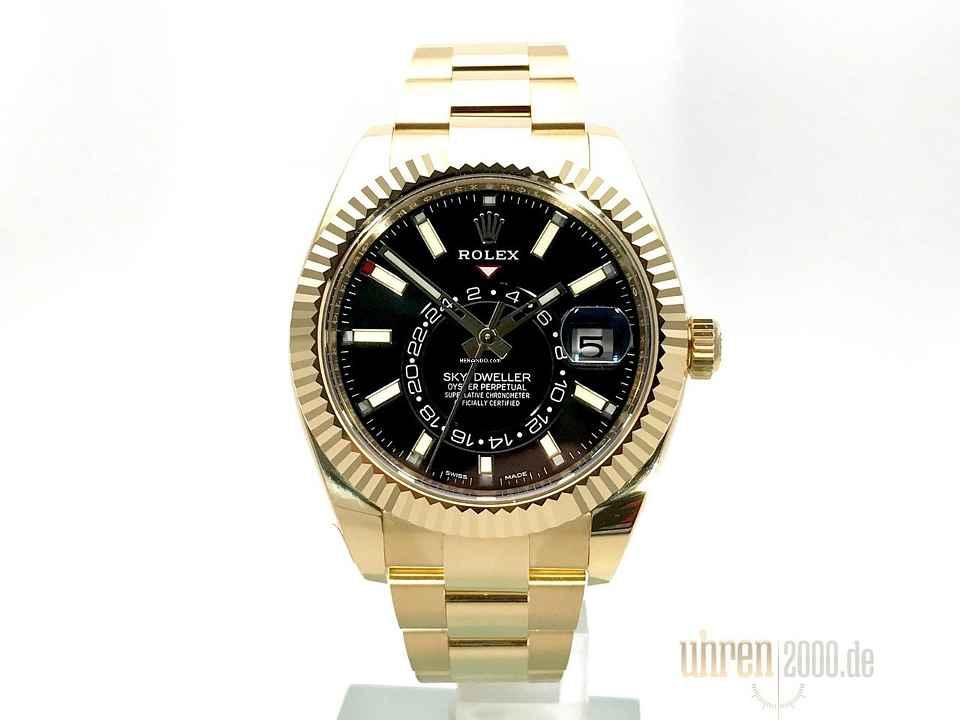 Rolex Sky-Dweller Gelbgold Ref. 326938 Schwarz d8163bf3d70