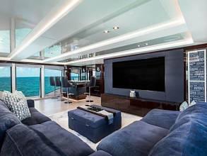 Sunseeker 131 Yacht - Skylounge and Bar